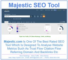 Find out your Majestic metrics and how to improve to generate more traffic by going to tyt-seo.com/free-plan Seo Tools, Best Rated, How To Plan, Free