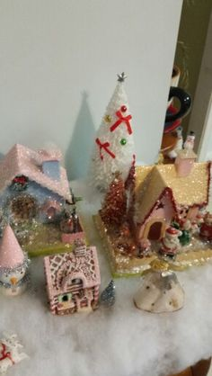 Glitter house christmas village