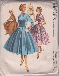 McCall's 3390 Vintage 50's pattern