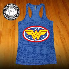Wonder Woman Tank Top - Racerback Burnout Tank Top Womens Workout Tank Tops…