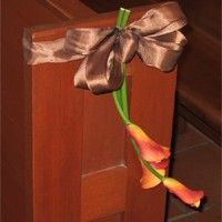 Calla Lily Wedding Pew Bow / Products / San Diego Florist Flowers   Same Day Flower Delivery   House of Stemms