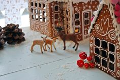 gingerbread houses.! gotta make one this year!!