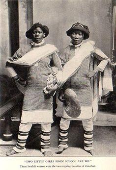 """These Swahili women were the two reigning beauties of Zanzibar"""
