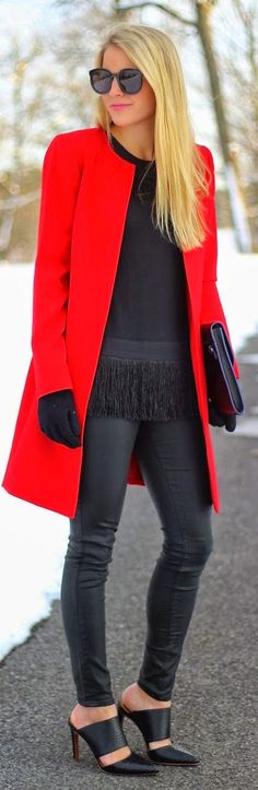 Just a pretty style   Latest fashion trends: Fall fashion   Red coat