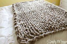 Arm knit rug