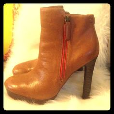 Coach Ankle Boots Adorable and barely worn Coach ankle boots in camel! Coach Shoes Ankle Boots & Booties
