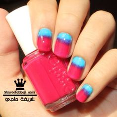 My nails for today | pink & blue - shareefahhaji_nails's photo on Instagram - Pixsta PC App