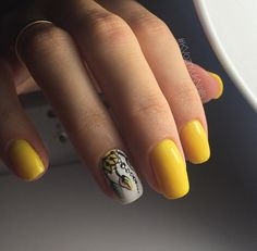 The Bold Yellow. The bold yellow colored nails is perfect fit for all the beach parties that you are looking for in spring and summer seasons.