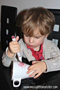 Messy Little Monster: DIY Heart Mug: Easy Kid Made Gifts