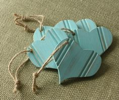 Etsy Find - Aqua beadboard heart ornament from the Shabby Chic Cottage