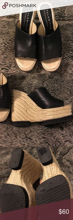 Black cork wedges Palomita wedges. Made in Spain. Size 38. Super comfortable. Worn twice Shoes Wedges