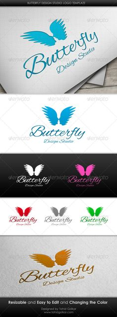 Butterfly Design Studio Logo Template