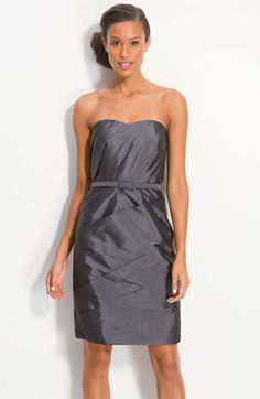 ML Monique Lhuillier Bridesmaids Pleated Taffeta Sheath Dress (Nordstrom Exclusive) available at Nordstrom
