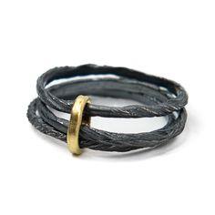 oxidised triple thread ring | Contemporary Rings by contemporary jewellery designer Antonella Giomarelli