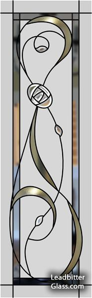 Charles Rennie inspired Mackintosh glass