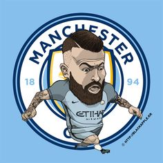 Manchester City No.30 Nicolas Otamendi Fan Art
