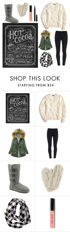 """""""I REALLY Want a Snow Day"""" by badwolffff ❤ liked on Polyvore featuring Lily & Val, J.Crew, Paige Denim, UGG Australia, Bibico, Bobbi Brown Cosmetics and Marc Jacobs"""