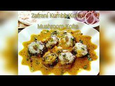 Zafrani Kumbh Kofta | Mushroom Kofta | Mushroom Kofta in Yellow Gravy - YouTube Recipe Link, Tossed, Gravy, Stuffed Mushrooms, Nutrition, Meat, Chicken, Yellow, Cooking