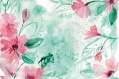 Watercolor Flowers M