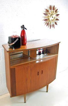Vintage Teak Bar Drinks Cabinet/Cupboard/Buffet Unit, 1960s Retro Furniture | eBay