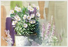 Shin Jong Sik is an artist and is the first time user of Mission watercolor in Korea. He had used 3 different brands of imported watercolor paints until when he wholly turned to Mission after monitoring Mission watercolor. Watercolor Mixing, Gold Watercolor, Watercolor Flowers, Watercolor Paintings, Watercolors, Painting Words, Art Station, Korean Artist, Beautiful Paintings