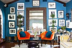 Benjamin Moore's Bainbridge Blue ~Inside the Home of Lulu Powers - One Kings Lane - Style Blog