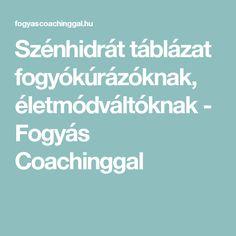 Szénhidrát táblázat fogyókúrázóknak, életmódváltóknak - Fogyás Coachinggal