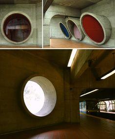 Details from Montréal's Angrignon Metro Station. Montreal, Metro Station, Transportation, Architecture, Photos, City, Arquitetura, Pictures, Architecture Design