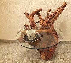 Holztisch Wurzeltisch Treibholz Unikat Beistelltisch Couchtisch Glas Massiv | eBay