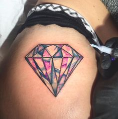 Faceted Diamond Tattoo by Alessandro Malossi