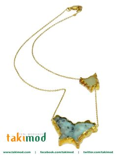 Natural stone, a very elegant butterfly shaped necklace