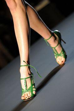 Green Shoes.  Jean Paul Gaultier