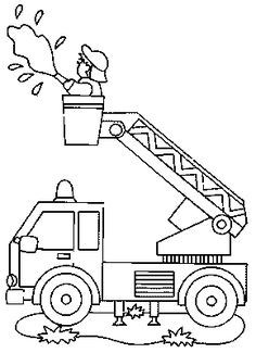 Firefighters coloring pages 06 Coloring Pages For Grown Ups, Truck Coloring Pages, Colouring Pages, Coloring For Kids, Coloring Sheets, Coloring Books, Firetruck Coloring Page, Fireman Quilt, Fire Prevention Week