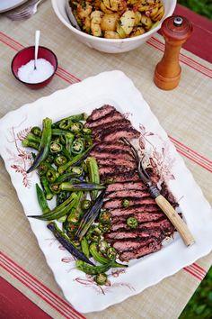 Grilled Okra and Jalapeñoscountryliving