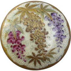 Exceptional Satsuma Large Wisteria Button.