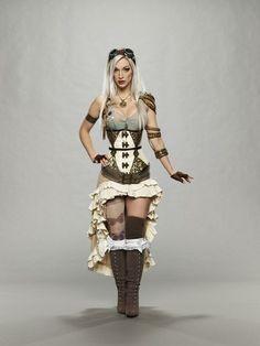 """micia84: """" Essendo l'outfit di Saori Kido osceno, ho provato un po' a immaginarla secondo i miei gusti. Per assurdo, in futuro la prossima Athena potrebbe adottare anche uno stile steampunk! Well, we..."""