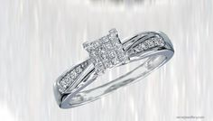 10k White Gold Wedding Rings