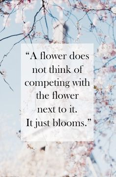 I just bloom.