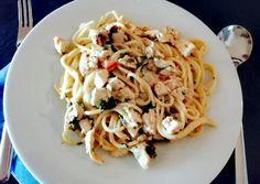 Toszkán csirkés spagetti   Maya Burgertné receptje - Cookpad receptek Maya, Spaghetti, Food Porn, Pizza, Dishes, Cooking, Ethnic Recipes, Life, Italia