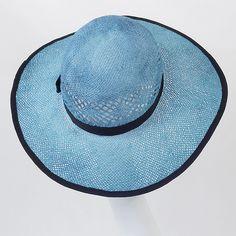 kapelusz słomkowy niebiesko-szafirowy Pinalu