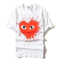 COMME Des GARÇONS PLAY White Red Shirt Material: Cotton and Bamboo Fiber
