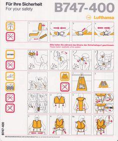 Safety Card Lufthansa B747-400 (1) front