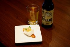 Apple and Rosemary Conserve, Goat Camembert Cheese & Crostini paired with Deer Old Mum