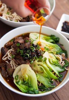 Taiwanese Beef Noodle Soup -- Asian Soups that Go Way Beyond Ramen : huffpost Ramen Recipes, Asian Recipes, Cooking Recipes, Healthy Recipes, Chinese Soup Recipes, Indonesian Recipes, Orange Recipes, Healthy Dinners, Beef Recipes