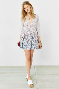 Ecote Willow Frock Dress - Urban Outfitters