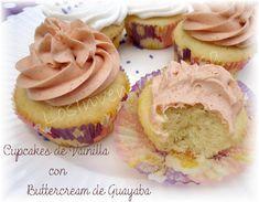 Los Inventos de Lisa: Cupcakes de Vainilla con Buttercream de Guayaba