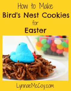 How to Make Bird's Nest Cookies for Easter