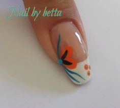 Would you try Tropical Nail Art by Themissbetta C. Vote on Preen. Hawaiian Nail Art, Tropical Nail Art, Fingernail Designs, Nail Art Designs, Hair And Nails, My Nails, Pretty Nail Art, Flower Nails, Gel Manicure