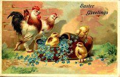 Easter postcard Vintage Easter Greetings by sharonfostervintage