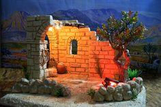 Christmas Holidays, Christmas Decorations, Xmas, Christmas Nativity Scene, Paper Clay, Portal, Belem, Bethlehem, Night
